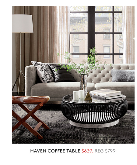 CB On Trend On Sale Up To Off Milled - Cb2 haven coffee table