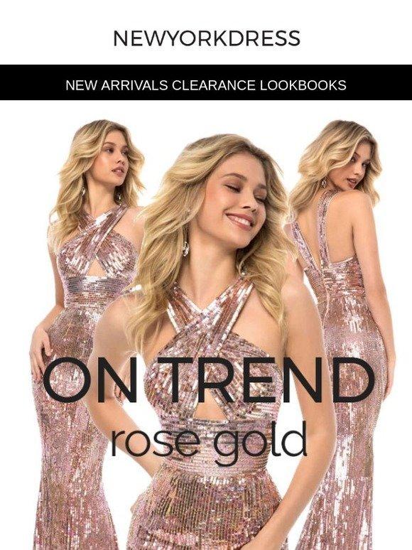 New York Dress Rose Gold Dresses Are So Hottt Right Now Milled