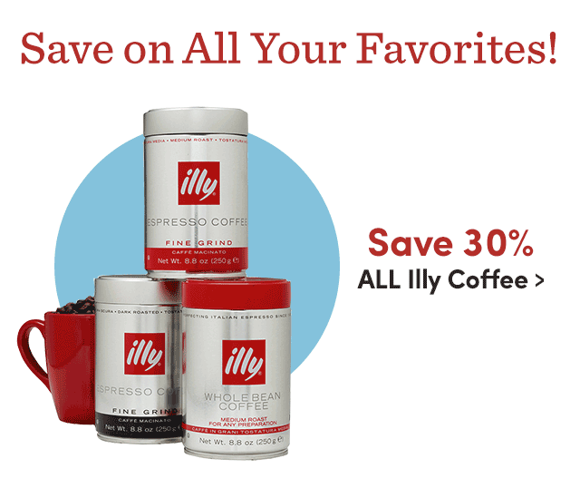 Save 30% ALL Illy Coffee