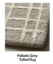 Palladio Grey Tufted Rug