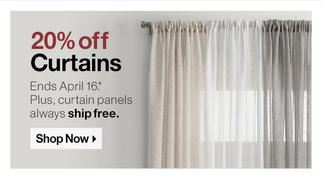 20% off Curtains