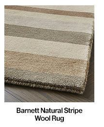 Barnett Natural Stripe Wool Rug