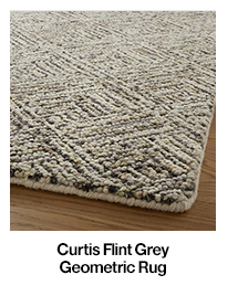 Curtis Flint Grey Geometric Rug