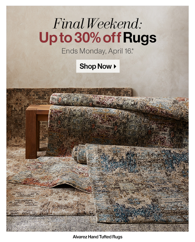 Final Weekend: Up to 30% off Rugs