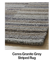 Ceres Granite Grey Striped Rug