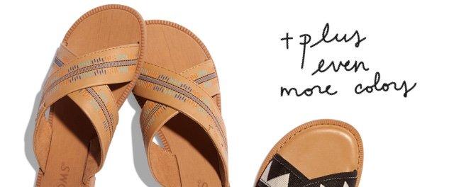 Honey Leather Embossed Women's Viv Sandals