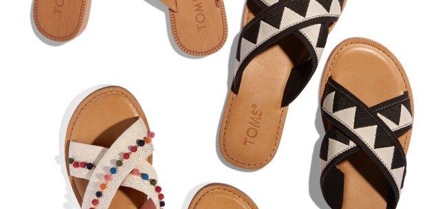 Black Geometric Women's Viv Sandals