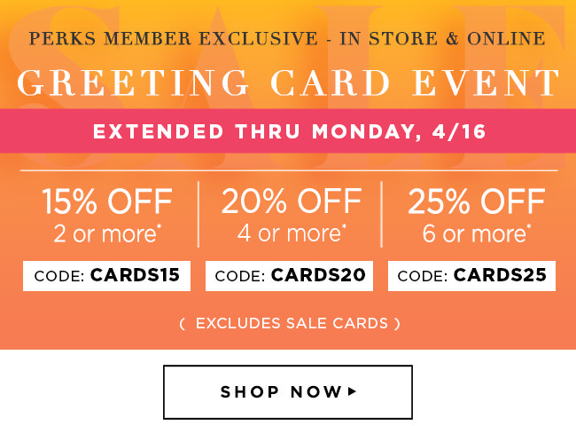 Papyrus enjoy one more day to shop the stacked card event milled perks member savings in store online buy 2 cards get 15 m4hsunfo