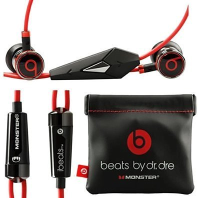 Original Beats by Dre iBeats In-Ear Headphones Earphones BLACK Bulk Packaging