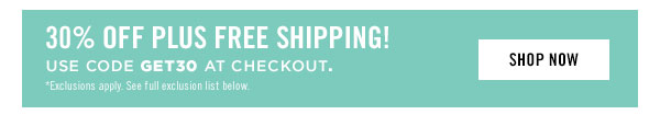 Enjoy 30% OFF plus free shipping! Use code GET30 at checkout.