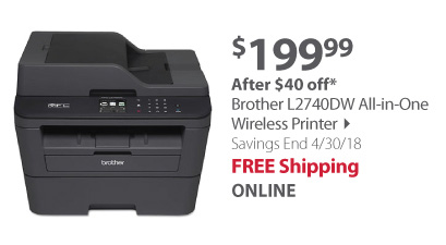 Brother MFC-L2707DW All-in-One Wireless Laser Printer with Toner Cartridge