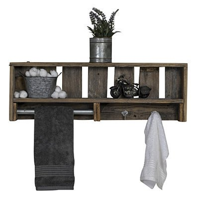 Reclaimed Wood Versatile Bathroom Shelf