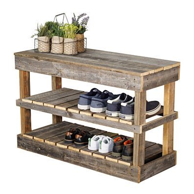 Barnwood Shoe Rack