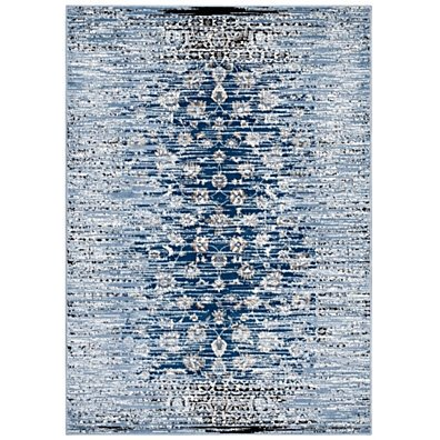 Chiara Distressed Floral Lattice Contemporary 8x10 Area Rug