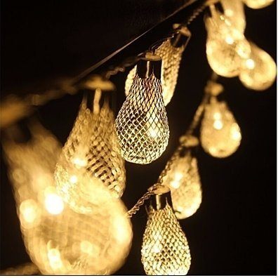 Weatherproof 20 LED Metal String Light Set