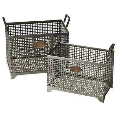 Butler Rowley Iron Storage Basket Set