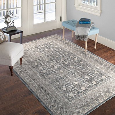 Lavish Home Vintage Greek Rug - Grey Brown - 5' x 7'7