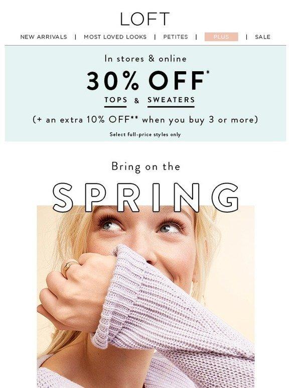 869b47a8cca Loft  Sunshine + sweaters + sale (yes