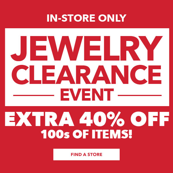 In-store only clearance event - Jewelry. Extra 40% off 100s of items!