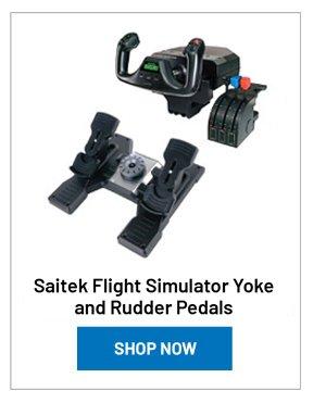 Saitek Flight Simulator Yoke and Rudder Pedals
