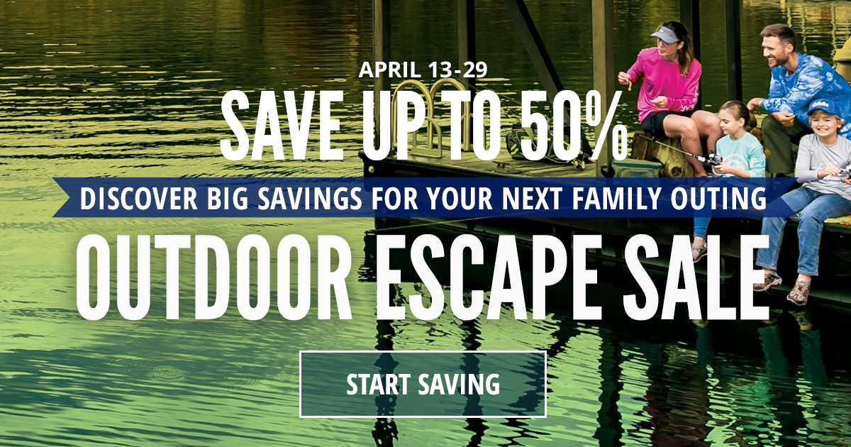 Save Up To 50%   Outdoor Escape Sale