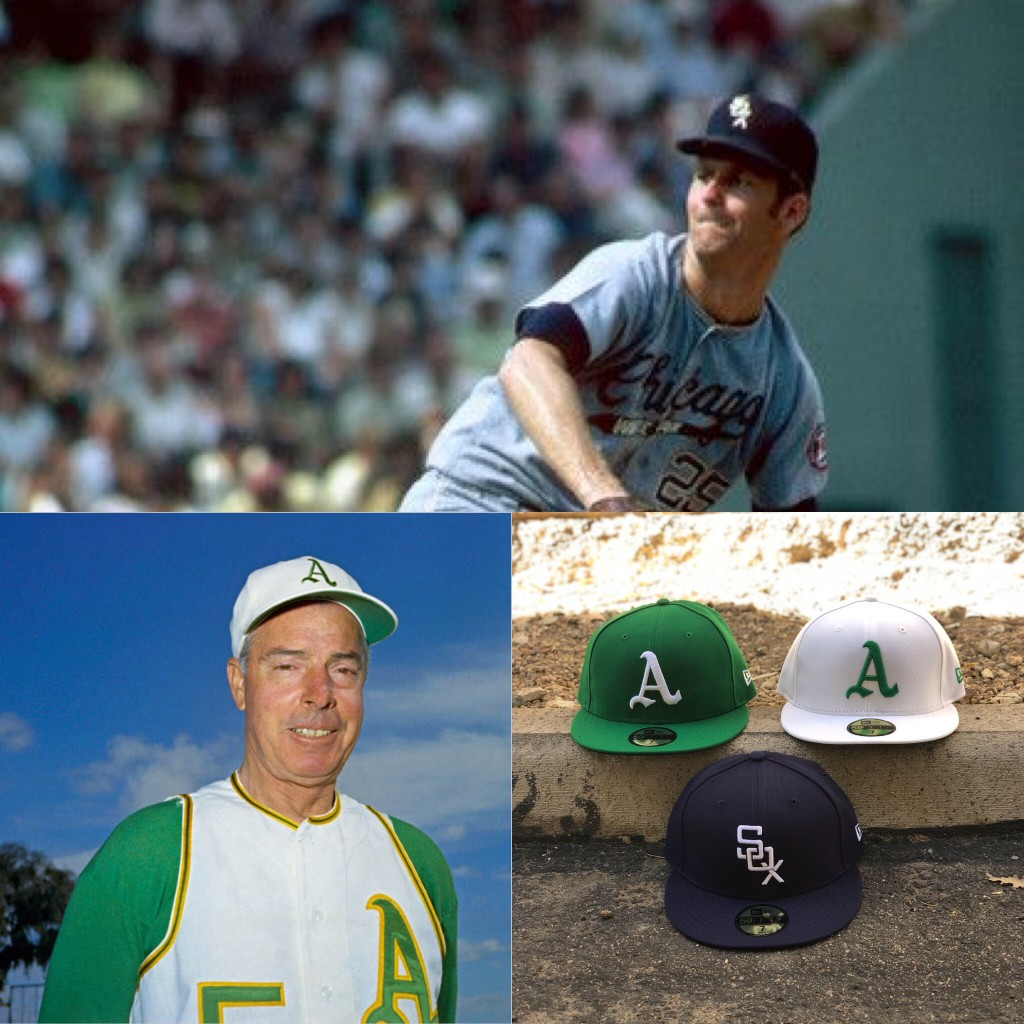 online store 8ad74 9a259 Hat Club: New A's and White Sox Throwback the Clock Caps ...