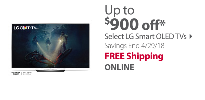 up to $ 800 off select OLED TVs