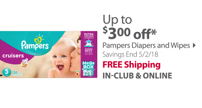 pampers up to $ 3.00