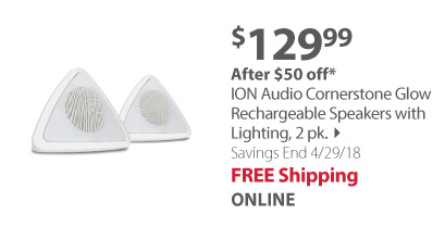 ion corner stone speakers