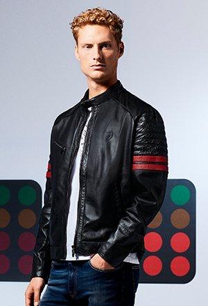 Ferrari Discover The Scuderia Ferrari Collection Leather Jackets Milled