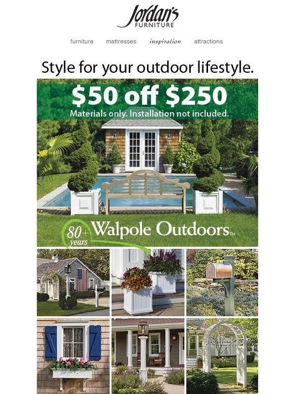 Jordanu0027s Furniture: Special Offer From Walpole Outdoors | Milled