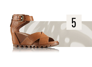 A profile view of the Joanie Sandal II.