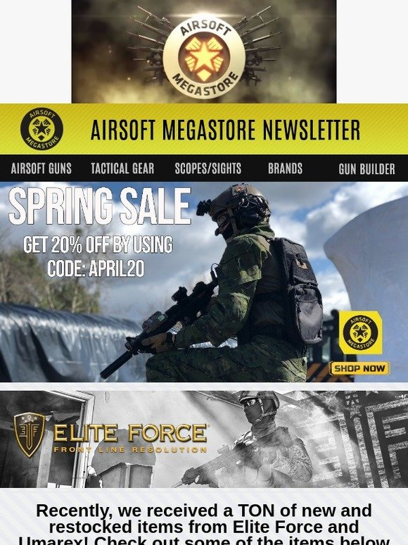 airsoftmegastore com your new elite force airsoft gun awaits milled