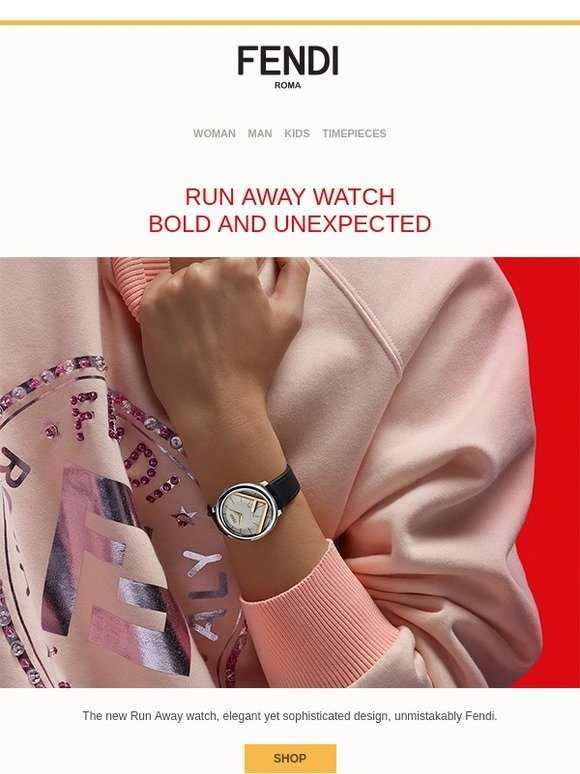 3c6a32d21d Fendi  Run Away Watch