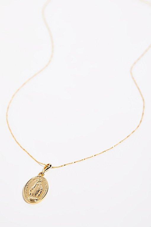 Victoria Saint Charm Necklace