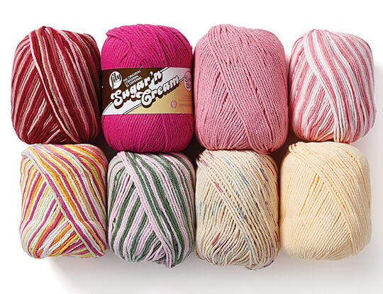 Lily Sugar 'n Cream Super Size Yarn.