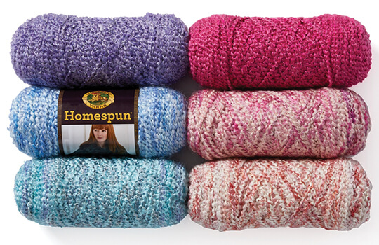 Lion Brand Homespun Yarn.