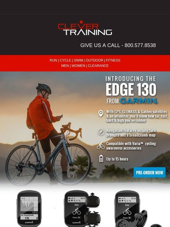 Clever Training: Garmin's April Arrivals: Meet the Edge 520