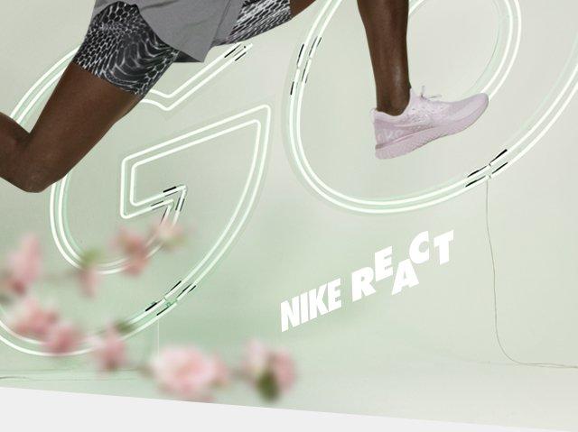 fc0ebad862ba Nike  JUST IN  Nike Epic React Pink Matcha