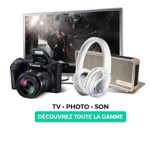 Dcouvrez toute la gamme TV, photo et son