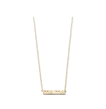 Jennifer Meyer Mama Necklace $675