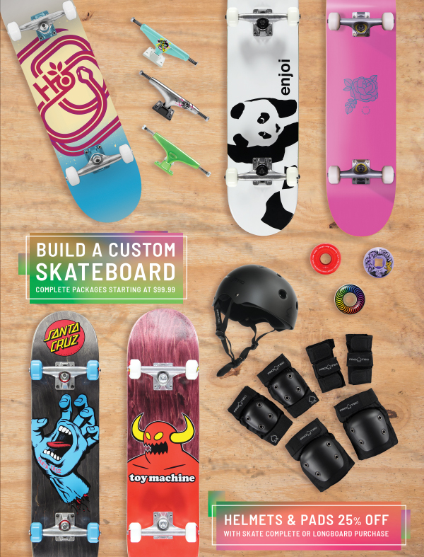Build a Custom Skateboard & Save Big - Up to 25% Off - Shop Now