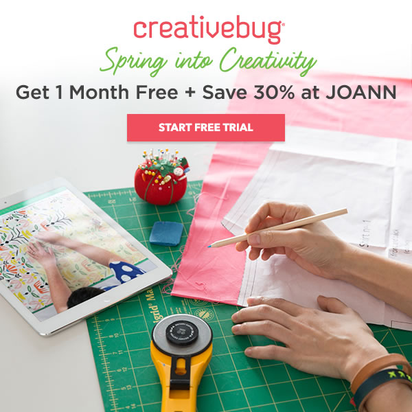 Learn With CreativeBug. 1 Month Free.
