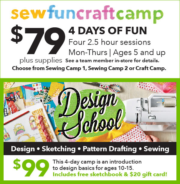 4 New Kids Camp starting at $79 for 4 days of crafts!.