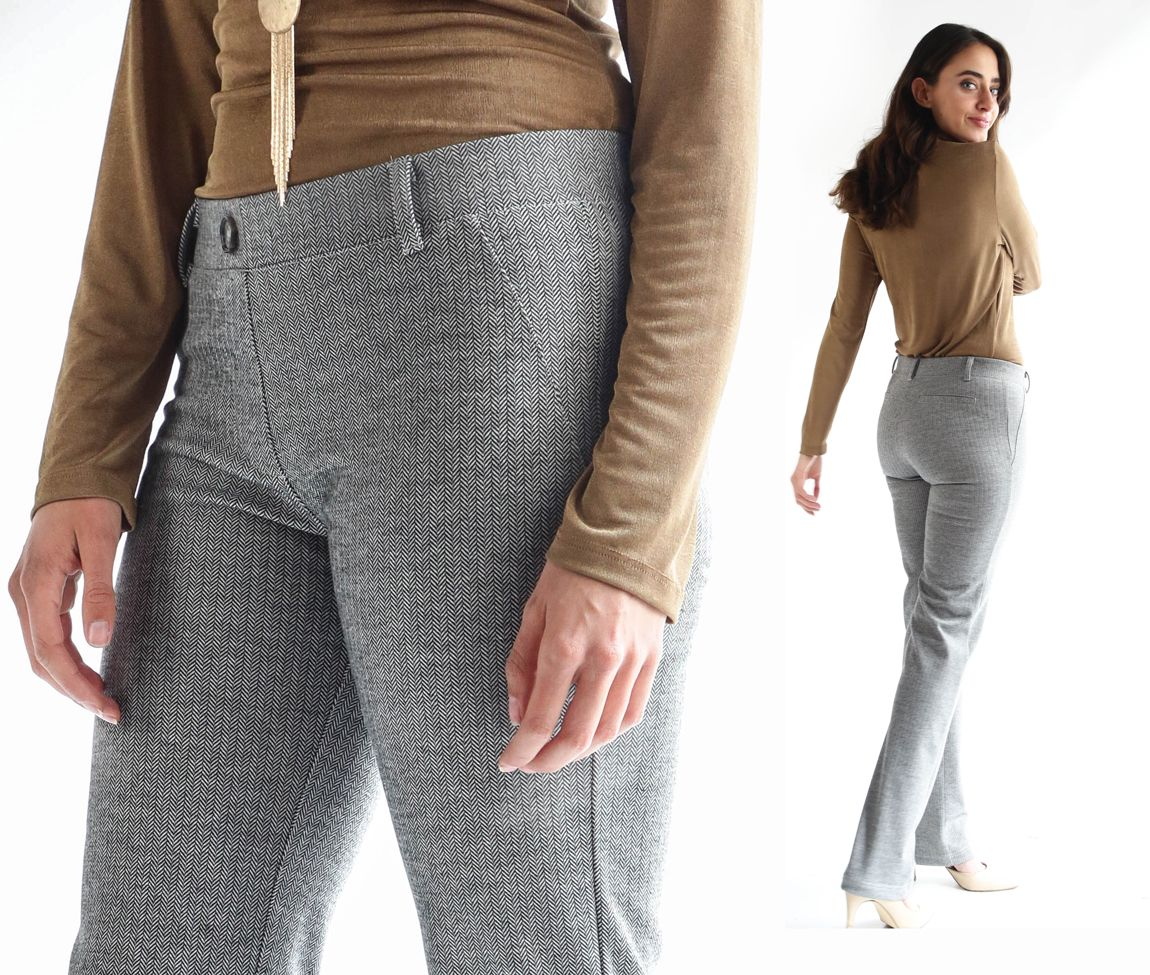 bbe0766e837e2 Dress Pant Yoga Pants are now available in a chic gray herringbone  (straight-leg and boot-cut). Also today: pant power trip!