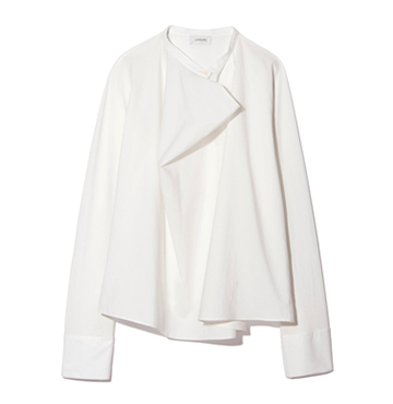 LONG-SLEEVE STRETCH-SILK BLOUSE Lemaire $787