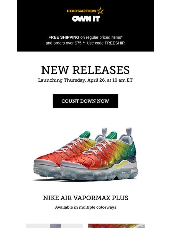 new product 7a971 b6e3c Footaction : Nike Air VaporMax Plus – available tomorrow ...