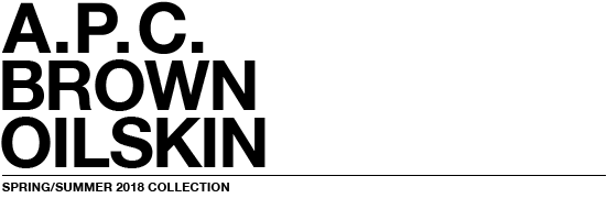 Brown oilskin | A.P.C.