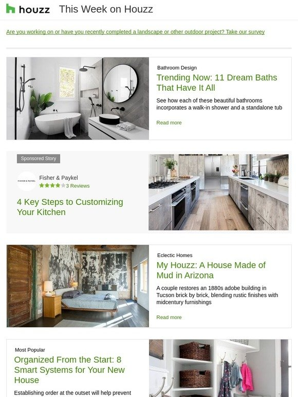 Houzz: A Modern Kitchen Goes Bold | What to Do This Weekend | Spring on