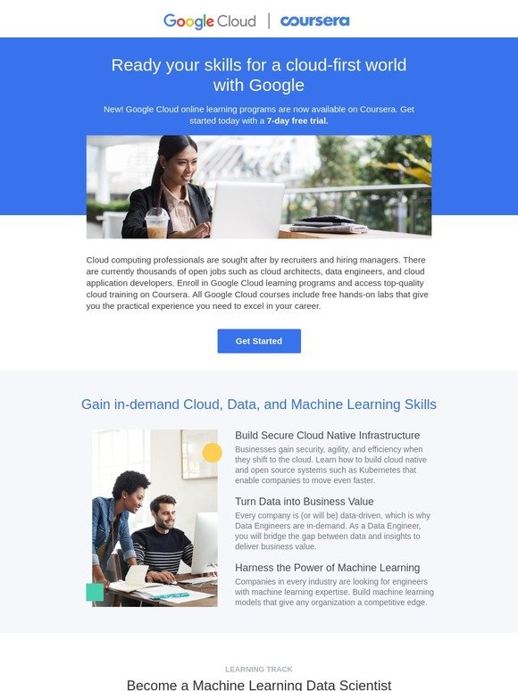 Coursera: Master Machine Learning & Cloud with Google | Milled